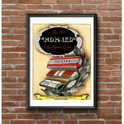 Hohner Harmonicas Poster - Made in Germany Echo Regina Comet Models