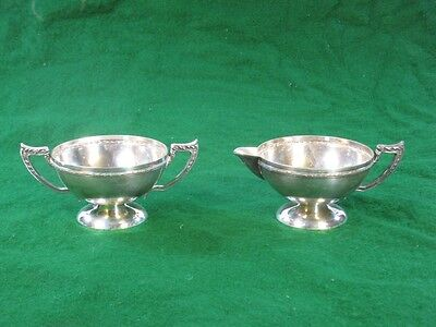 Silverplate Creamer Sugar Benedict Chinese Chippendale
