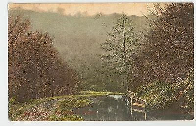A Lovely Old Colour Postcard Of The Canal At Abergavenny In Winter