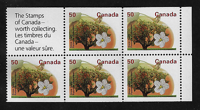 Canada Stamps -Pane of 5 -Fruit Tree: Snow Apple #1365a -MNH