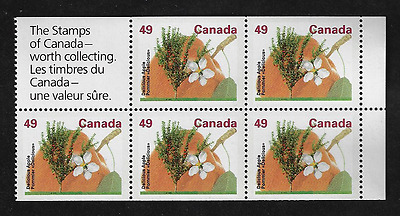 Canada Stamps -Pane of 5 -Fruit Tree: Delicious Apple #1364b -MNH