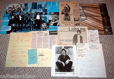 BRUCE SPRINGSTEEN 1980 1981 The River Tour 11pc Photo Ad Article Lot NYC
