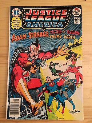 "1977 DC Comics #138 JUSTICE LEAGUE of AMERICA ""Adam Strange - Puppet Of Time"""