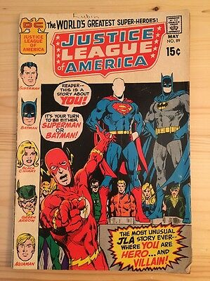 "1971 DC Comics #89 JUSTICE LEAGUE of AMERICA ""The Most Dangerous Dream Of All"""