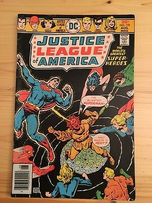 "1976 DC Comics #133 JUSTICE LEAGUE of AMERICA ""Missing - One Man Of Steel"""