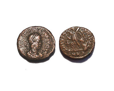 Roman Imperial coin Theodosius Victory and Captive SMKA mint  get coin shown #26