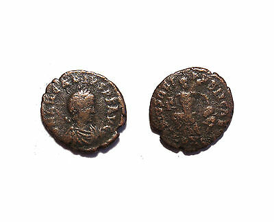 Roman Imperial coin Arcadius Victory and captive One of last emperors #28