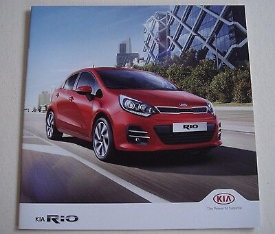 Kia . Rio . Kia Rio . July 2016 Sales Brochure