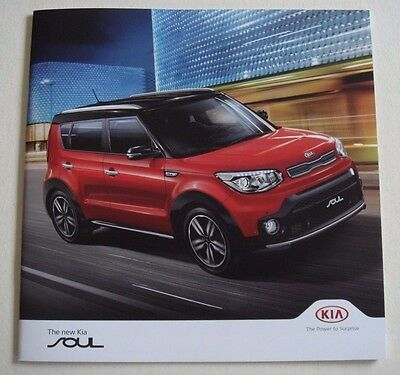 Kia . Soul . New Kia Soul . December 2016  Sales Brochure