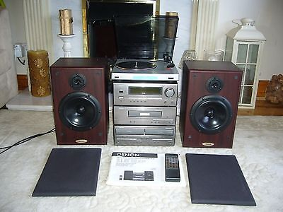 Quality DENON Personal Component System with DENON Speakers and Bush Turntable