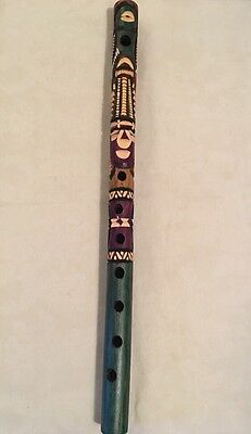 Guatemalan Handcrafted Flute Musical Instrument  **(PICK A COLOR and DESIGN)**