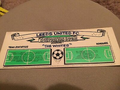 Leeds United Supporters Room Plaque