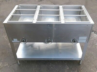 3 Bay / 3 Well Steam Table Commercial Kitchen Stainless Steel