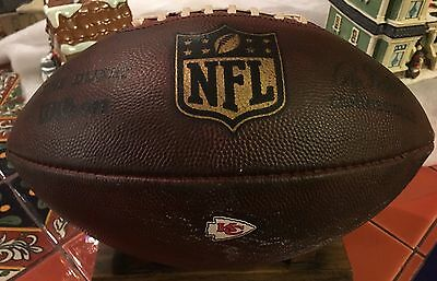 Kansas City Chiefs 2016 Game Used Ball Football Alex Smith E. Berry J. Houston