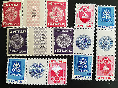 Israel Tete-Beche with Cutters 1950+ MNH