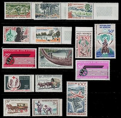 1962 '63 '65 '66 Malagasy Ivory Coast Senegal Complete And Incomplete Series Air