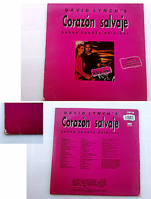 "David Lynch's Corazon Salvaje ""Wild At Heart"" (Banda Sonora Original)  LP 1990"