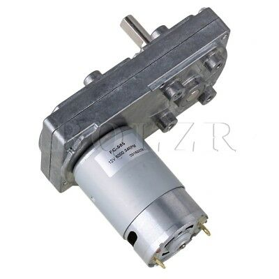 Square Electric High Torque Geared Gearbox Motor Silver Metal DC 12V 34RPM