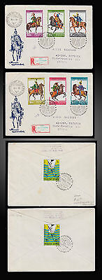 1978 Hungary Military Hussars Uniforms Imperforated On F.d.c. St.2515-2520