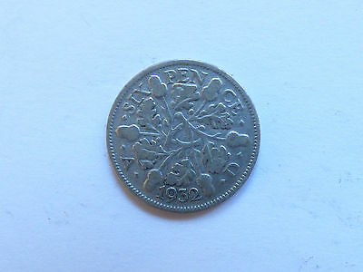 Great Britain George V Sixpence 1932