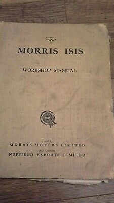 Morris isis workshop manual