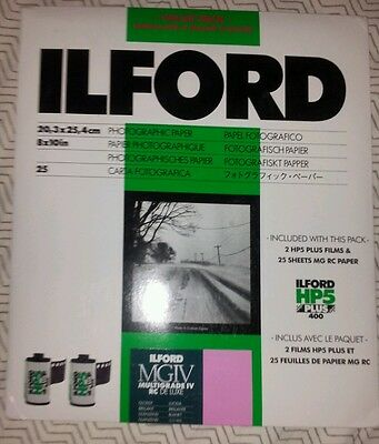 "Ilford Photo Paper 8x10"" RC Black and White Glossy surface"