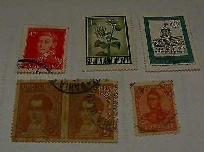 Job Lot Collection Old Argentina Postage Stamps