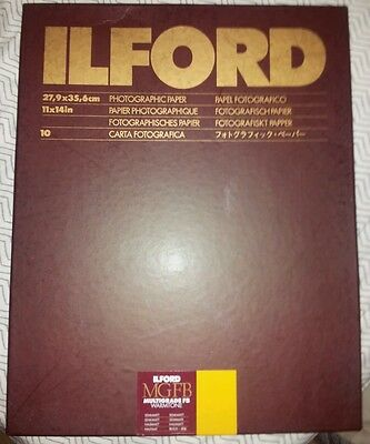 Ilford Multigrade FB Warmtone Fiber Base Paper (11 x 14in, 10 Sheets, Semi-Matt