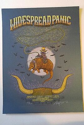Widespread Panic Marq Spusta Austin '13 show edition poster