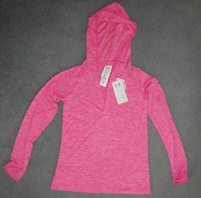 Womens Under Armour Pull Over Loose Fit V Neck Pink Shirt Sz Xsmall Bnwt L@@k
