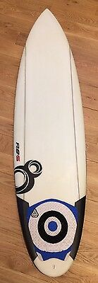 "Mint 6'4"" Resin8 Scoop Surfboard with 6 FCS Fins + Komunity Tail Pad. Approx 36L"