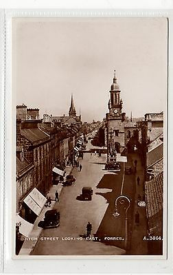 HIGH STREET LOOKING EAST, FORRES: Morayshire postcard (C25810)