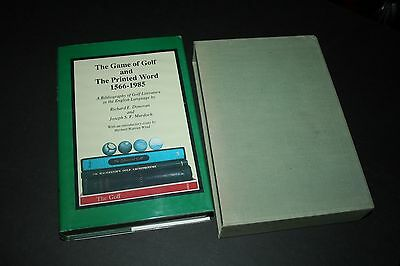 Golf memorabilia book - The Game of Golf and the Printed Word 1566-1985