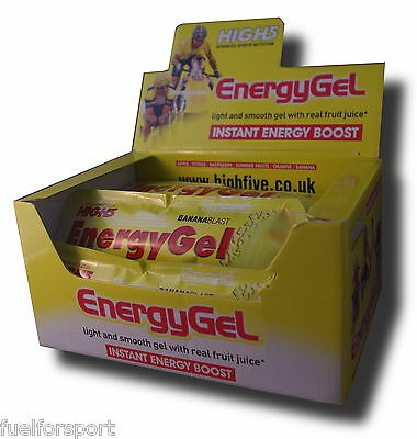 High 5 High Five Energy Gels 1 box Orange + Caffeine