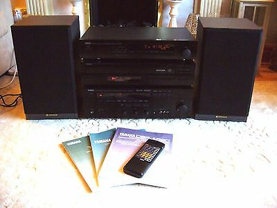 YAMAHA Hi-Fi System CD-5 Disc Changer/AM-FM Tuner/Amplfier with HITACHI Speakers