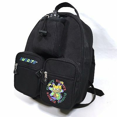 Nickelodeon Rugrats Kid's Backpack Angelica Pickles Cartoon Knapsack Bag Black