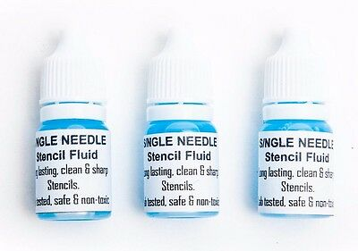 Single Needle Tattoo Transfer Stencil Fluid Solution 10ml