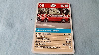 Nissan Sunny Coupe Original Top Trump Card Free Postage Collectible