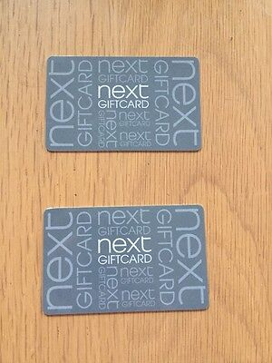 """2 x £10 """"NEXT"""" GIFT CARDS"""