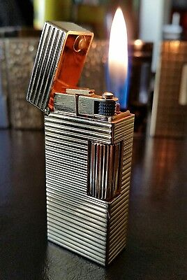 Scarce Newly serviced 2007 Genuine Ladies Dunhill Rollagas Mini Lighter Gold