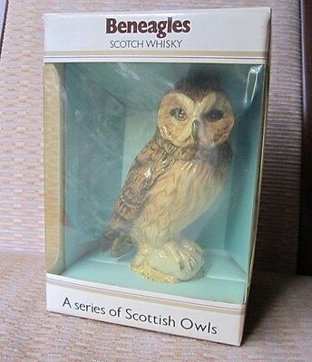 "BESWICK SHORT-EARED OWL WHISKY FLASK ISSUED 1983-1987 No 2825 6.75"" high BOXED"