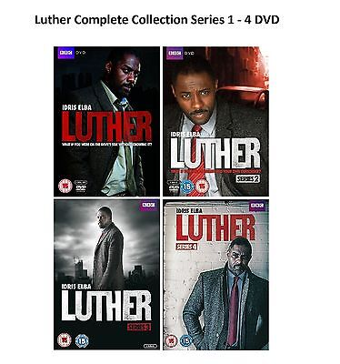 Luther Complete Collection Series 1 - 4 DVD All Season 1 2 3 4 UK Release New R2