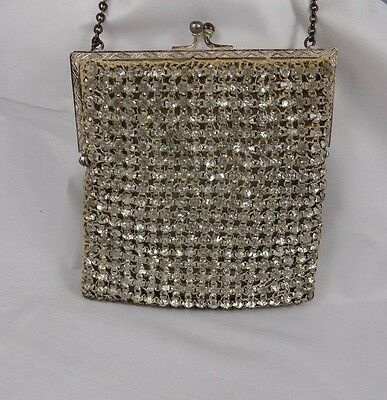 Antique Rhinestone Purse 1920's LOTS of Sparkle & Shine