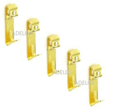 Pack Of 4 Heavy Duty Brass Picture Hooks Wall Fixing Hanging Mirror Frame Hanger