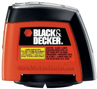 BLACK+DECKER Laser Level Equipped with 2 Backlit Bubble Vials 360° Rotating wall