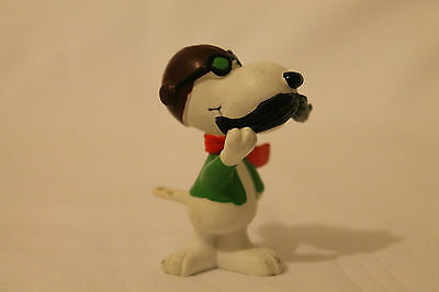 Vintage Snoopy Aviator/Flying Ace Figure Approx 6cm 'United Feature' On Bottom