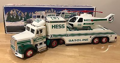 1995 Hess Toy Truck and Helicopter, In Box
