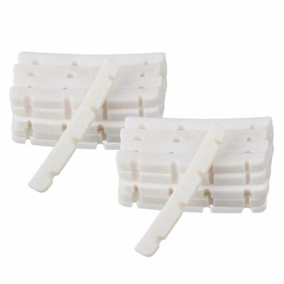 White Slotted Bridge Bone Nut Slotted for 4String Electric Bass Guitar Set of 20