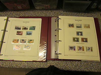 2 Albums Of - Great Britain - Decimal Mint Unhinged Stamps - 1971 To 1998 £210 +