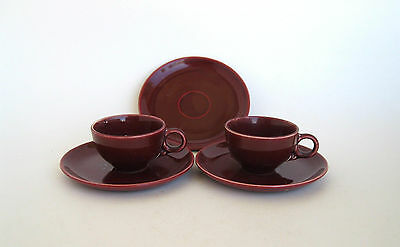 Universal Potteries Ballerina Demi Tasse Cups and Saucers